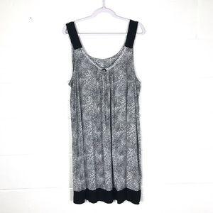 3X nightgown leopard print gray black pajamas